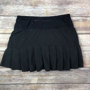 Lululemon Sz 4 Run Speed Skort Skirt Black